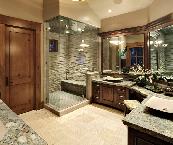 frameless shower with transome