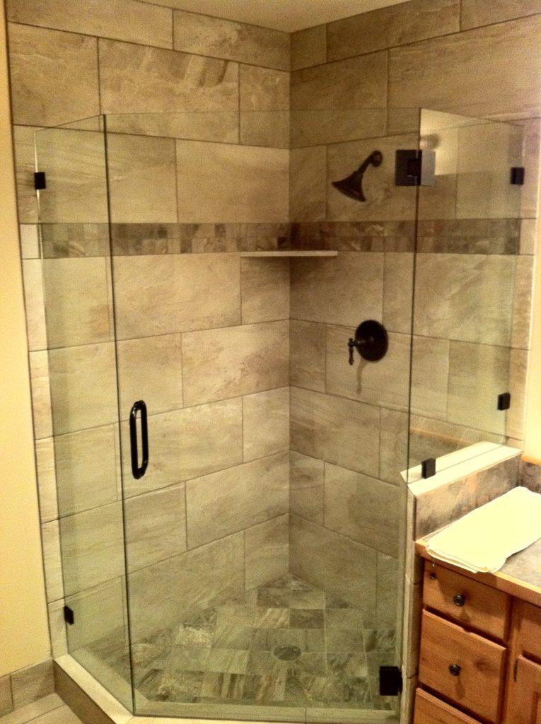frameless neo angle shower enclosure