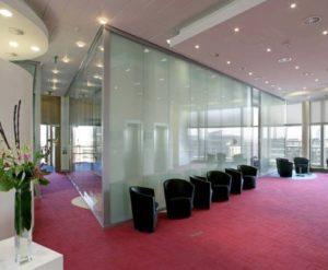 opaque glass office