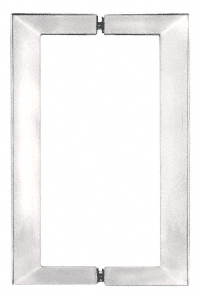 Square Shower Handle In Polished Chrome