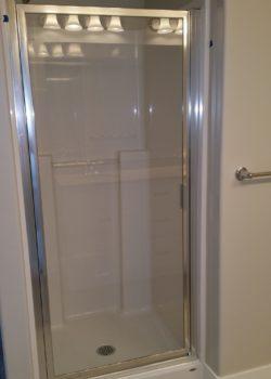 framed shower door no header